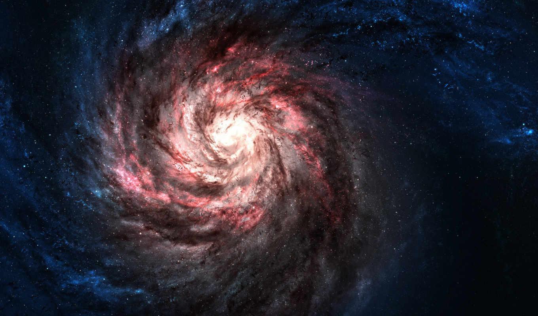 звезды, галактики, red, galaxies, blue, монитора, уклоном, космическим, картинка, hintergrundbilder,