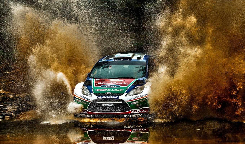 авто, water, качества, rally, высокого, ford, раллийный, race, брызги, коллекция,