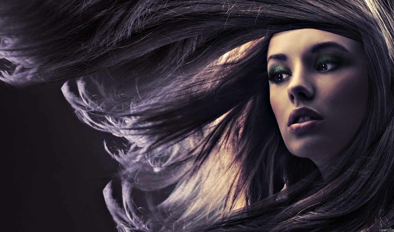 лицо, девушка, макияж, февр, косметики, широкоформатные,