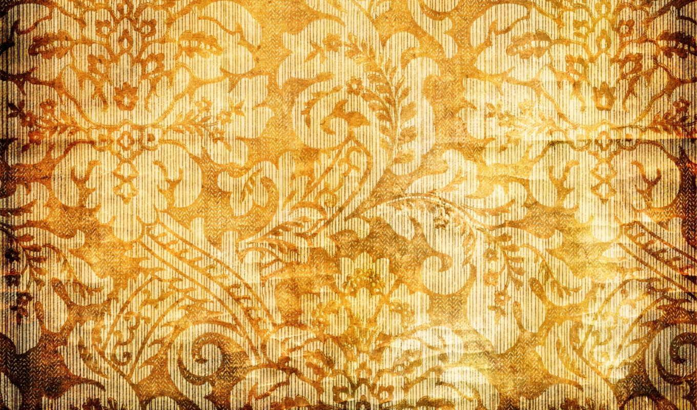 текстура, золотистый, yellow, узоры, цветы, браун, качестве, pattern,