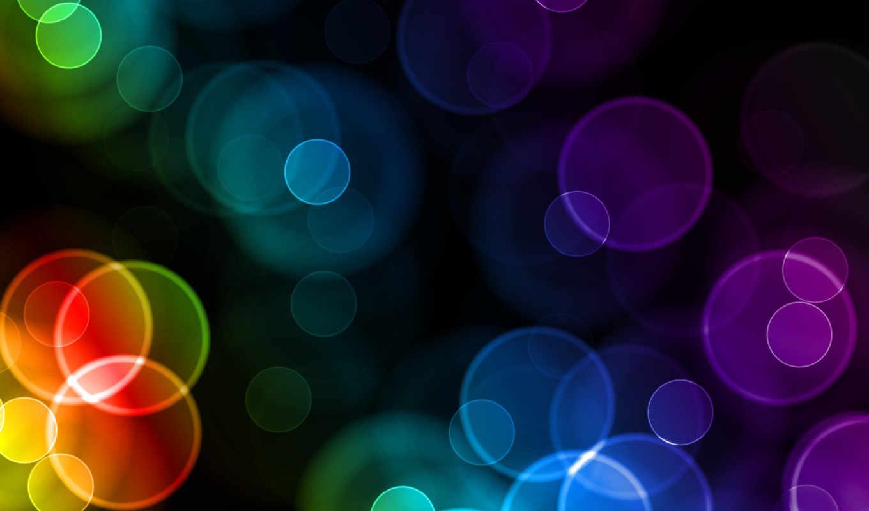 абстракция, цветная, круги,