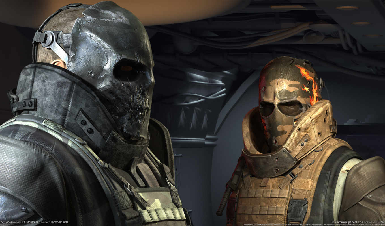 армия, два, маски,