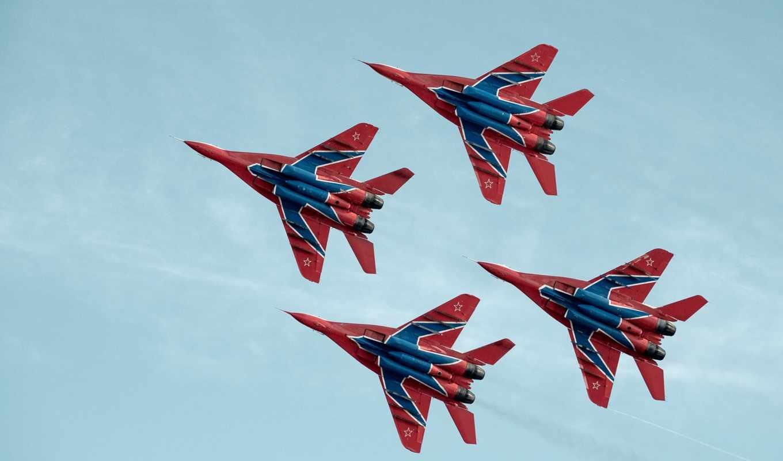 стрижи, группа, пилотажная, авиация, истребители, группы, mig, бесплатные, самолеты, миг, стрижей,
