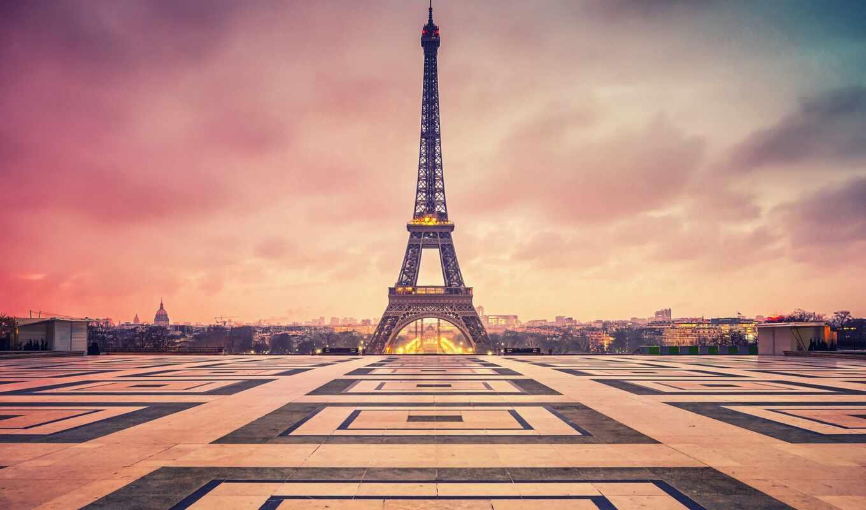 париж, eifelevyi, башня, город, francii