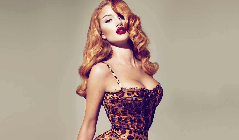 huntington, rosie, whiteley, волосы, рыжая, девушка, корсет, pin, redheads, cleavage, girls, women, rockesque,