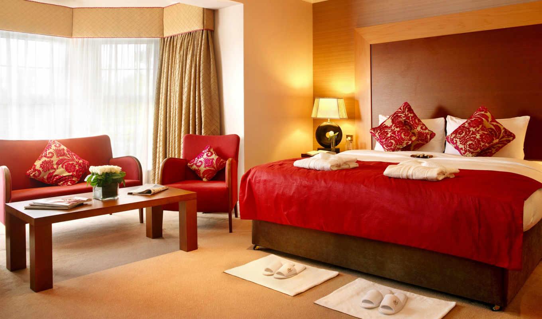 спальни, спальня, спальне, красная, бе, может, мебель, интерьер, color,