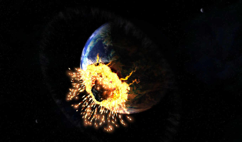 full, oboi, космос, земли, батик, earth, астероидом, столкновение,