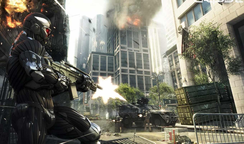 crysis, оружие, shooting, crisis, город, игры, new, york, art, prophet,