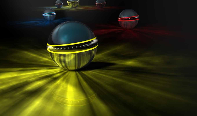 spheres, balls, abstract, desktop, abstrakt,