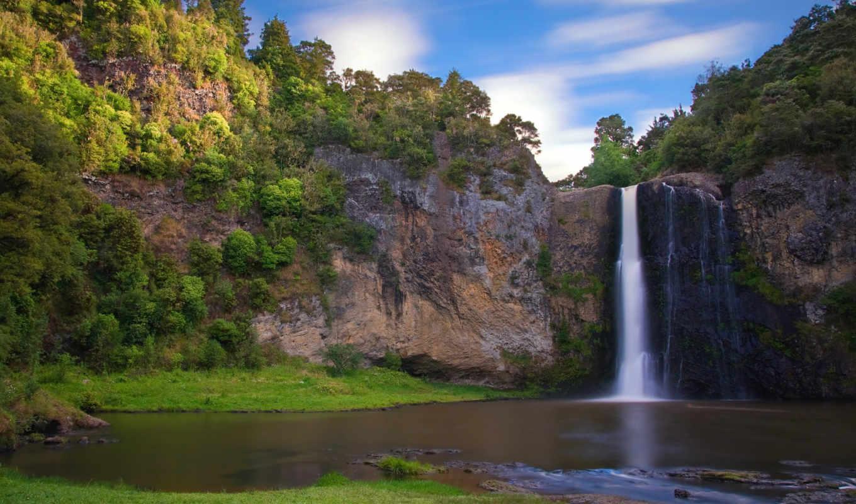 водопад, hunua, лесу, desktop, nature, falls, widescreen, tags, fondos, download, hintergrundbilder, изображения, tapeta, waterfalls, вернуться, поделиться, free, resolution, hunuafalls, this, full,