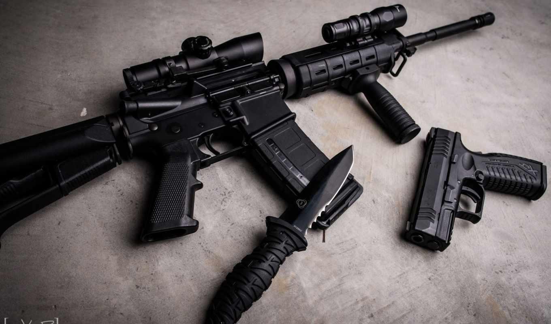 xdm, нож, автомат, штурмовая, винтовка,