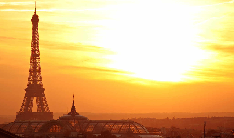 париж, город, башня, эйфелева, europe, франция, eiffel, are, sunset, картинку,