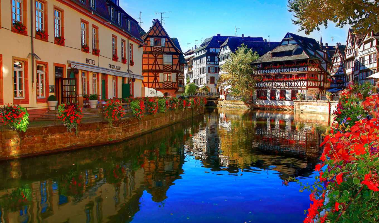 франция, париж, свой, сиамские, пазл, дунаю, страсбург, gemini, puzzle, изображение, город,