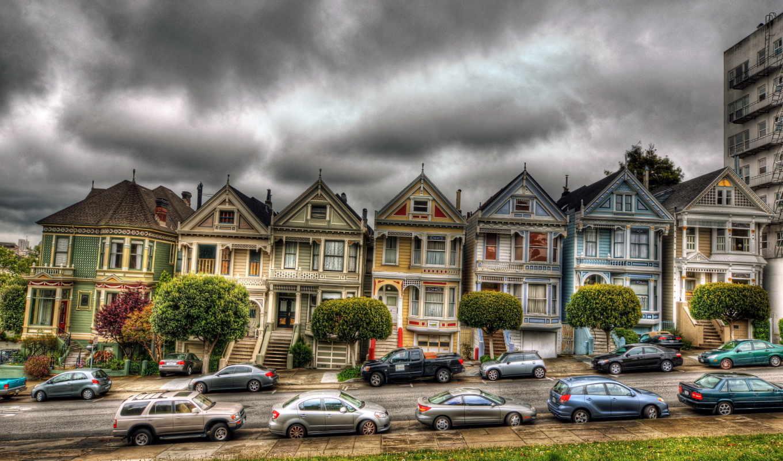 франциско, san, сша, victorian, houses, города, калифорния, house,