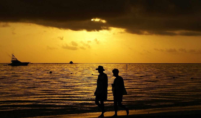 atardecer, playa, del, más, los, día, bonitos, momentos, uno,