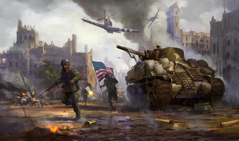 war, thunder, танки, sherman, игры, танк, солдаты, mustang, оружие,