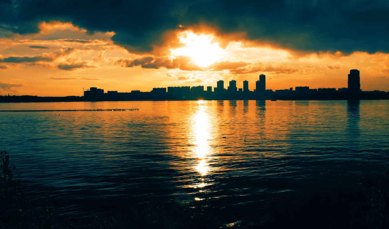 река, закат, москва, город, нояб, sun,