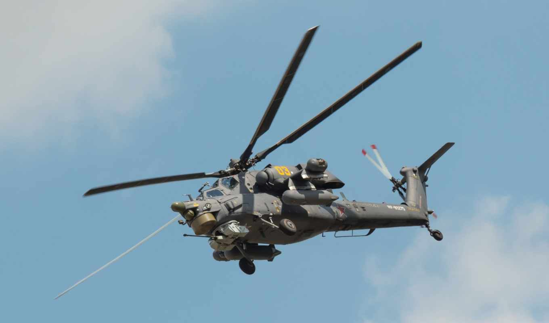 ми, вертолет, Ми-35, russian, полет,