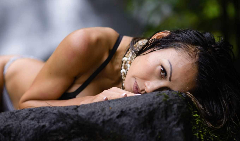 ,, красота, черные волосы, девушка, модель, каштановые волосы, фотосессия, длинные волосы, шея, kaniakapupu, kahaluu, портрет, бикини