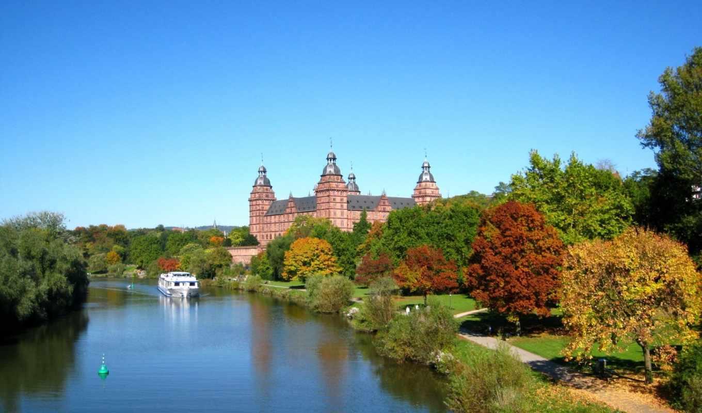 бавария, ашаффенбург, германия, города, замки, дворцы, крепости,