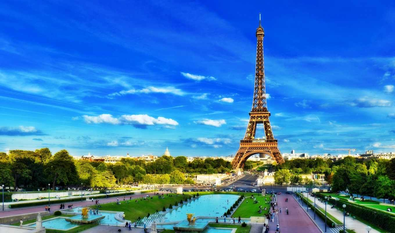 башня, эйфелева, париж, франция, париж,
