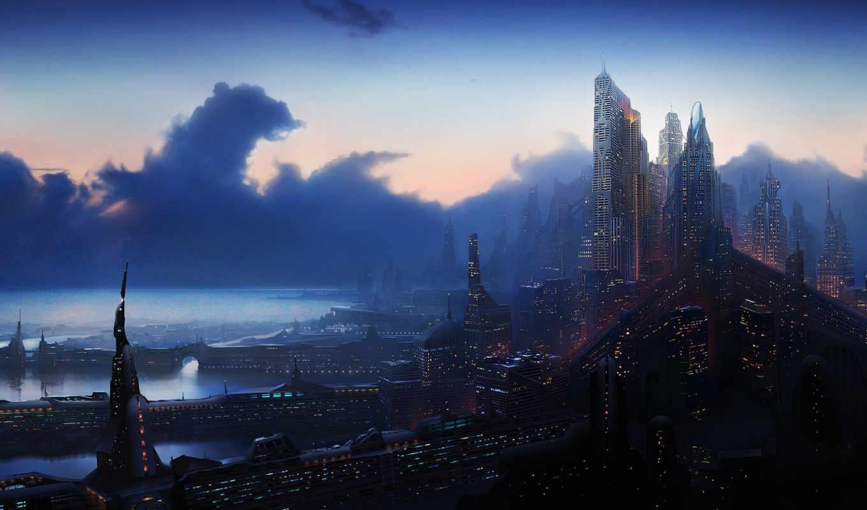 фантастика, город, fantastic, будущего,
