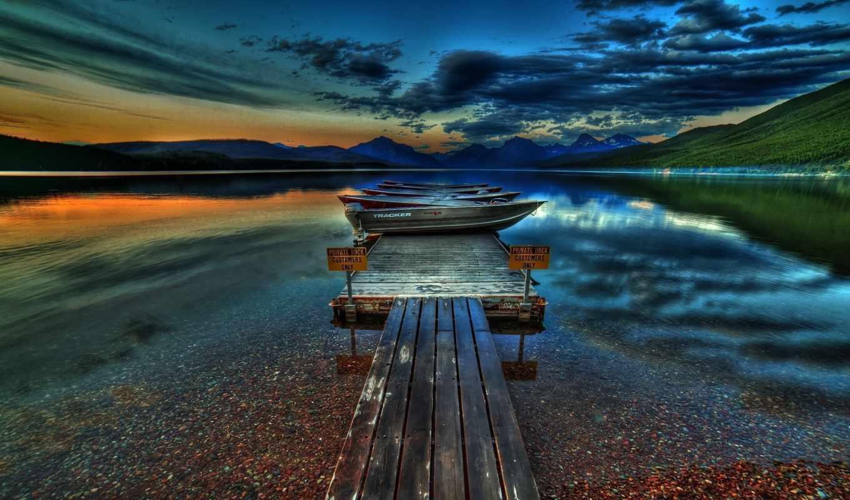 природа, лодки, небо, landscape, природы, деревя, mix, пейзажи -, incredible,