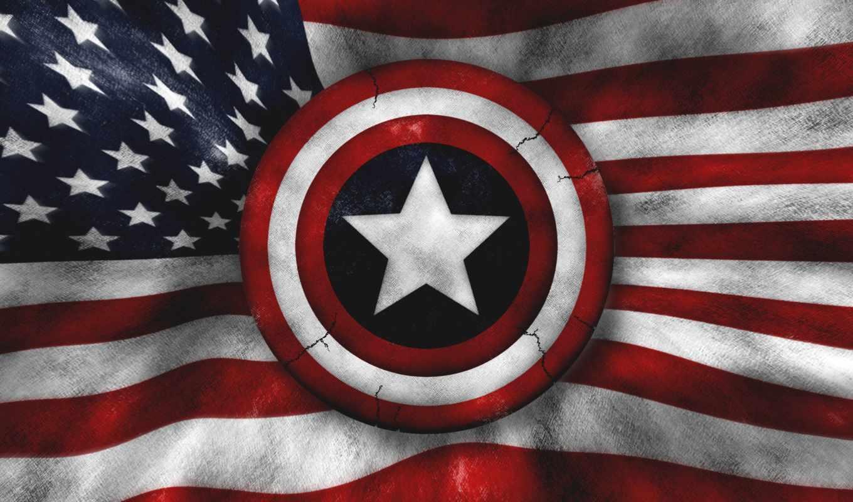 captain, america, щит, графика, флаг,