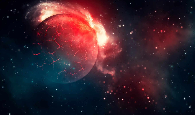 cosmos, звезды, заставки, телефон, трещины, planet, планеты, телефона, bang, картинку, landscape,
