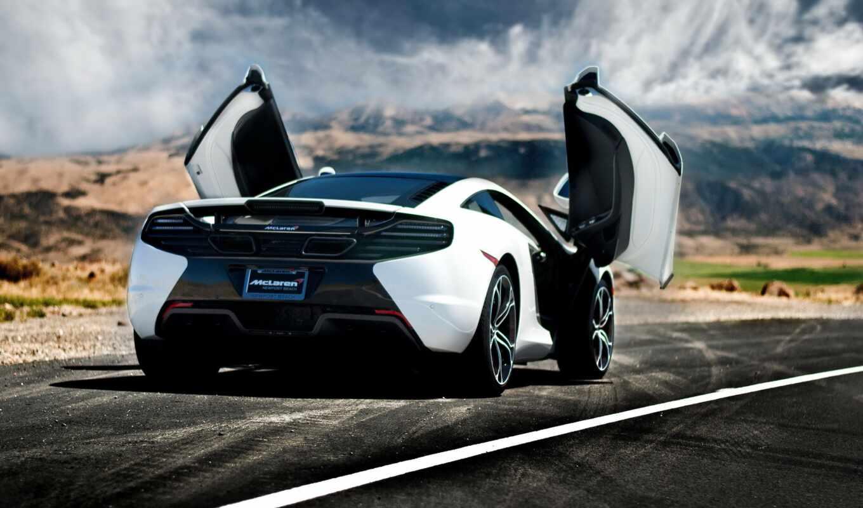 car, mcla, суперкар, rear, сзади