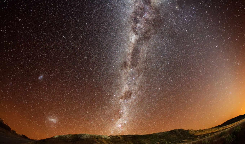 путь, млечный, звезды, galaxy, telescope,