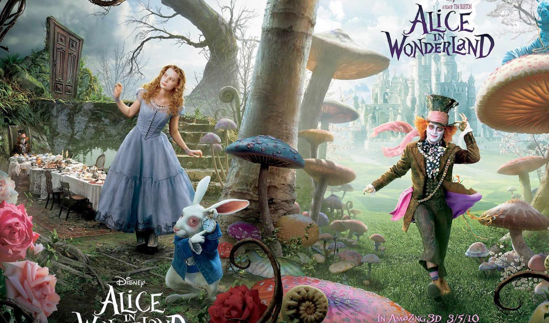 wonderland, алиса, movie, канада, чудес, disney, плакат, tim,