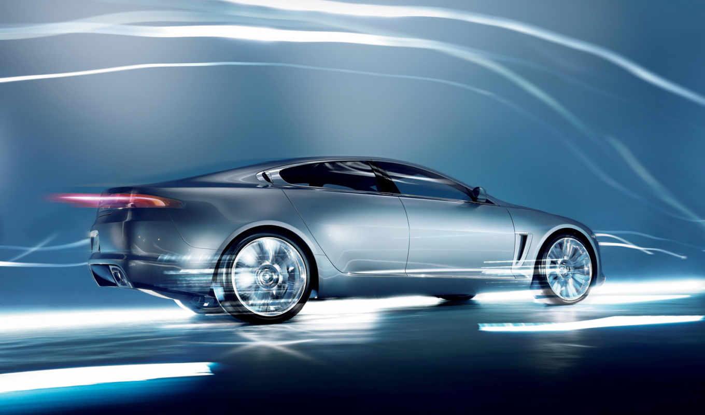 jaguar, xf, car, lightning, speed,