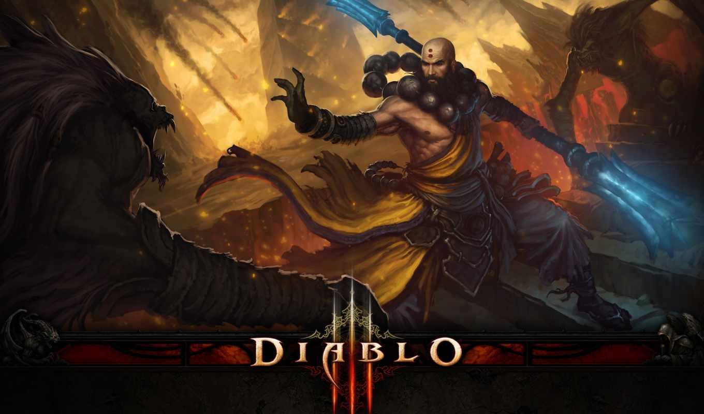 diablo, iii, monk, картинка, картинку, der, download, desktop,