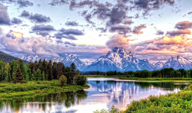 закат, пейзаж, природа,