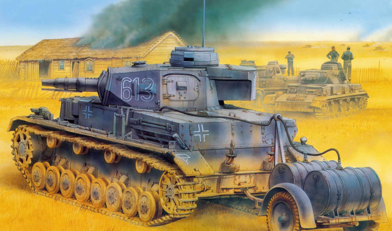 рисунок, средний, вермахт, tauchpanzer, танк, немцы, панцер, ausf, kpfw, pz,
