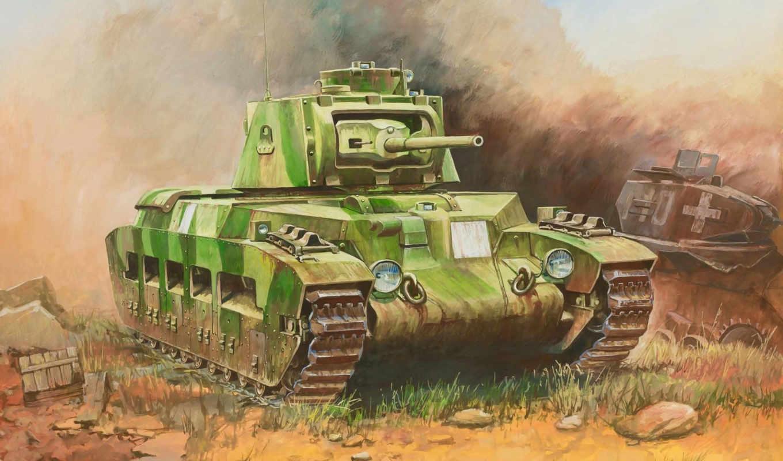 британский, танк, пехотный, средний, арт, matilda,