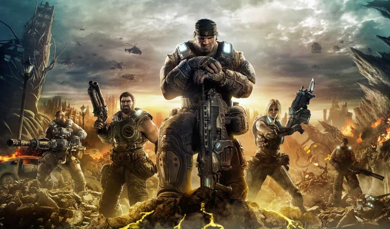 солдаты, бойцы, war, gears, ак, спецназ,