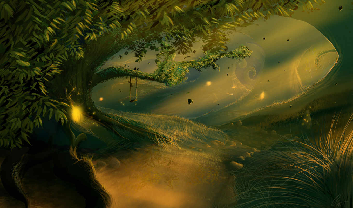 fantasy, art, forests, forest, city,