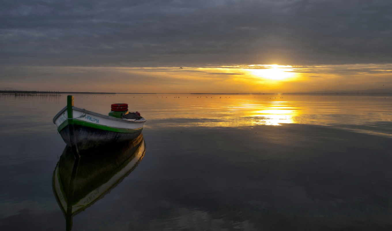 вечер, закат, красивые, ipad, sun, солнца, диск,