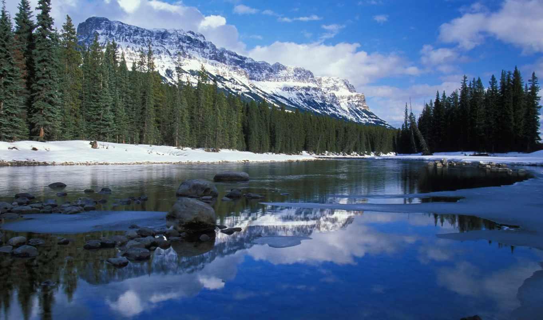 канада, альберта, канады, город, national, park,