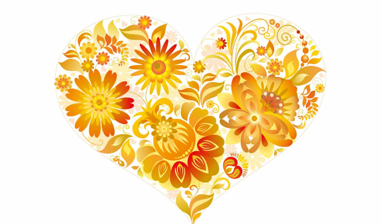 сердце, красивое,