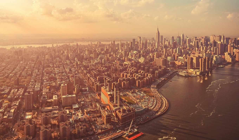 нью, york, мегаполис, сша, город, побережье, большой, bosvash, фотообои, биг