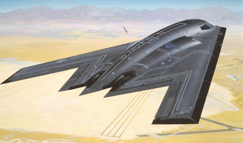 bomber, авиация, northrop, самолёт, revell, картинка, бомбардировщик,  b2,стелс, b-2, spirit, stealth,