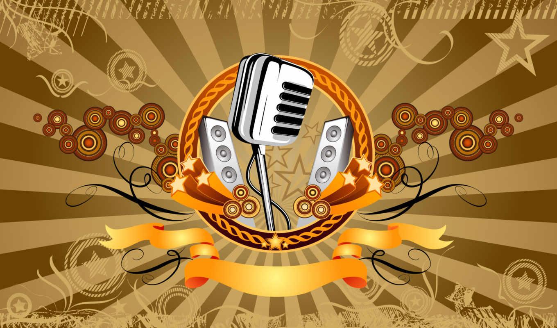 микрофон, music, вектор, retro, mastana, high, desktop, mikrofon,