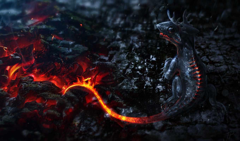 дракон, драконы, огонь, фэнтези, разделе, small, февр, art,