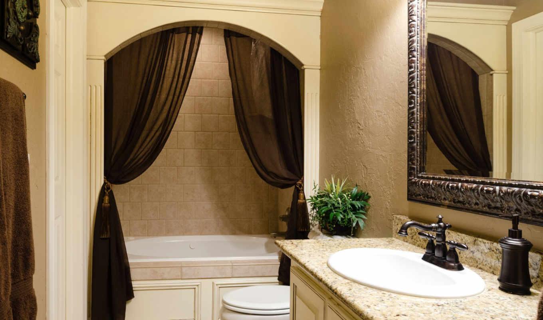 ,ванная, зеркало, шторки,