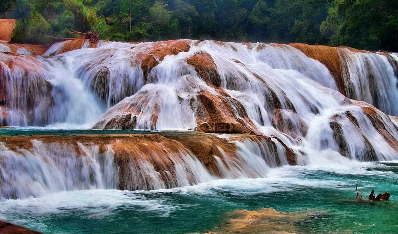 agua, azul, flora, fauna, cascadas, protección,