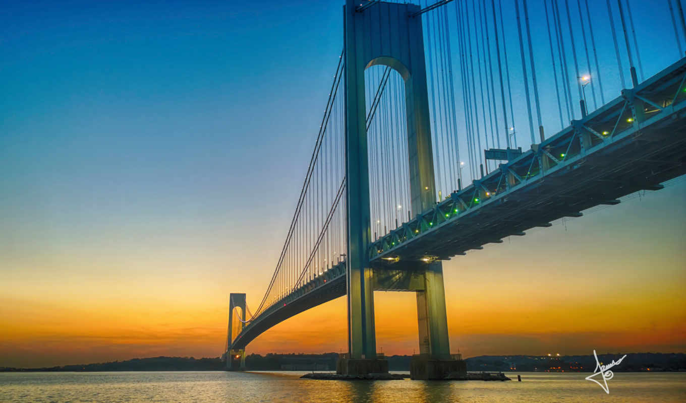 мост, verrazano, narrows,