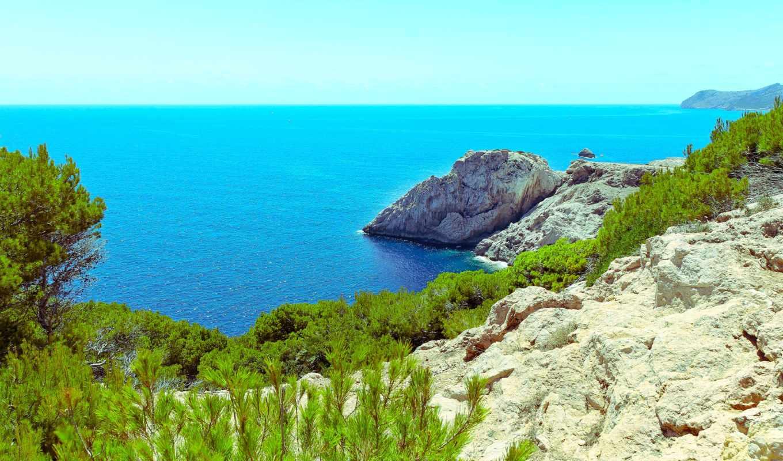 испания, побережье, capdepera, free, resolution, взгляд, best,